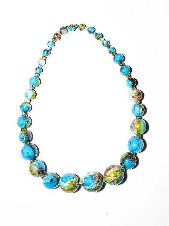 Dřevěný náhrdelník TWO TONES - IS0042-02-007