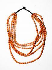 Dřevěný náhrdelník TWO TONES IS0042-02-010