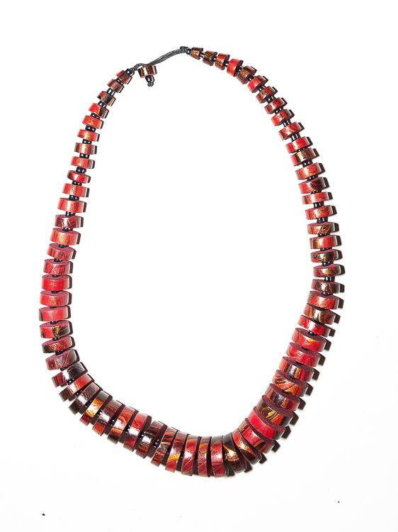 Dřevěný náhrdelník TWO TONES - IS0042-02-024