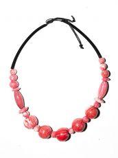 Dřevěný náhrdelník TWO TONES IS0042-02-033