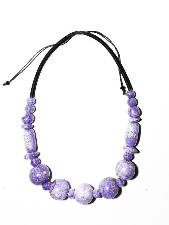 Dřevěný náhrdelník TWO TONES - IS0042-02-036