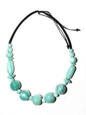 Dřevěný náhrdelník TWO TONES IS0042-02-037