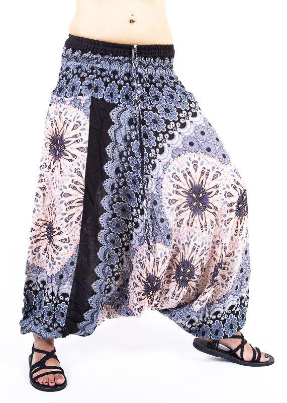 Kalhoty turecké harémky ORIGIN viskóza Thajsko TT0043 232
