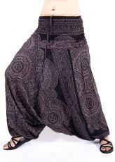 Kalhoty turecké harémové ORIGIN viskóza Thajsko TT0043-218