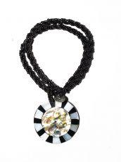 Náhrdelník perličkový - provázkový -  s přívěškem  IS0001-078