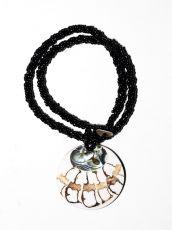 Náhrdelník perličkový - provázkový -  s přívěškem  IS0001-080