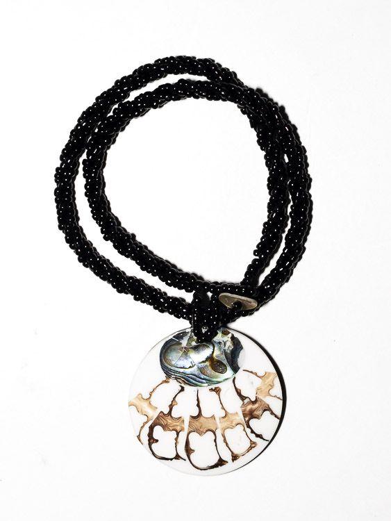 Náhrdelník perličkový s přívěškem - IS0001-080