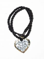 Náhrdelník perličkový - provázkový -  s přívěškem  IS0001-079