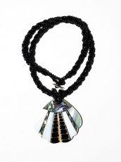 Náhrdelník perličkový - provázkový -  s přívěškem  IS0001-081