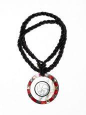Náhrdelník perličkový - provázkový -  s přívěškem  IS0001-083