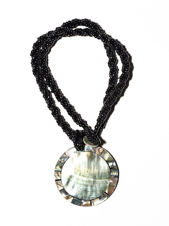 Náhrdelník perličkový s přívěškem - IS0001-085
