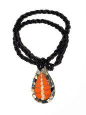 Náhrdelník perličkový - provázkový -  s přívěškem  IS0001-086