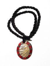 Náhrdelník perličkový - provázkový -  s přívěškem  IS0001-088