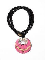 Náhrdelník perličkový - provázkový -  s přívěškem  IS0001-094