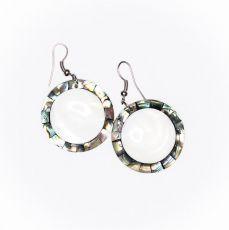 Náušnice - kombinace resin s perletí  IS0011-107