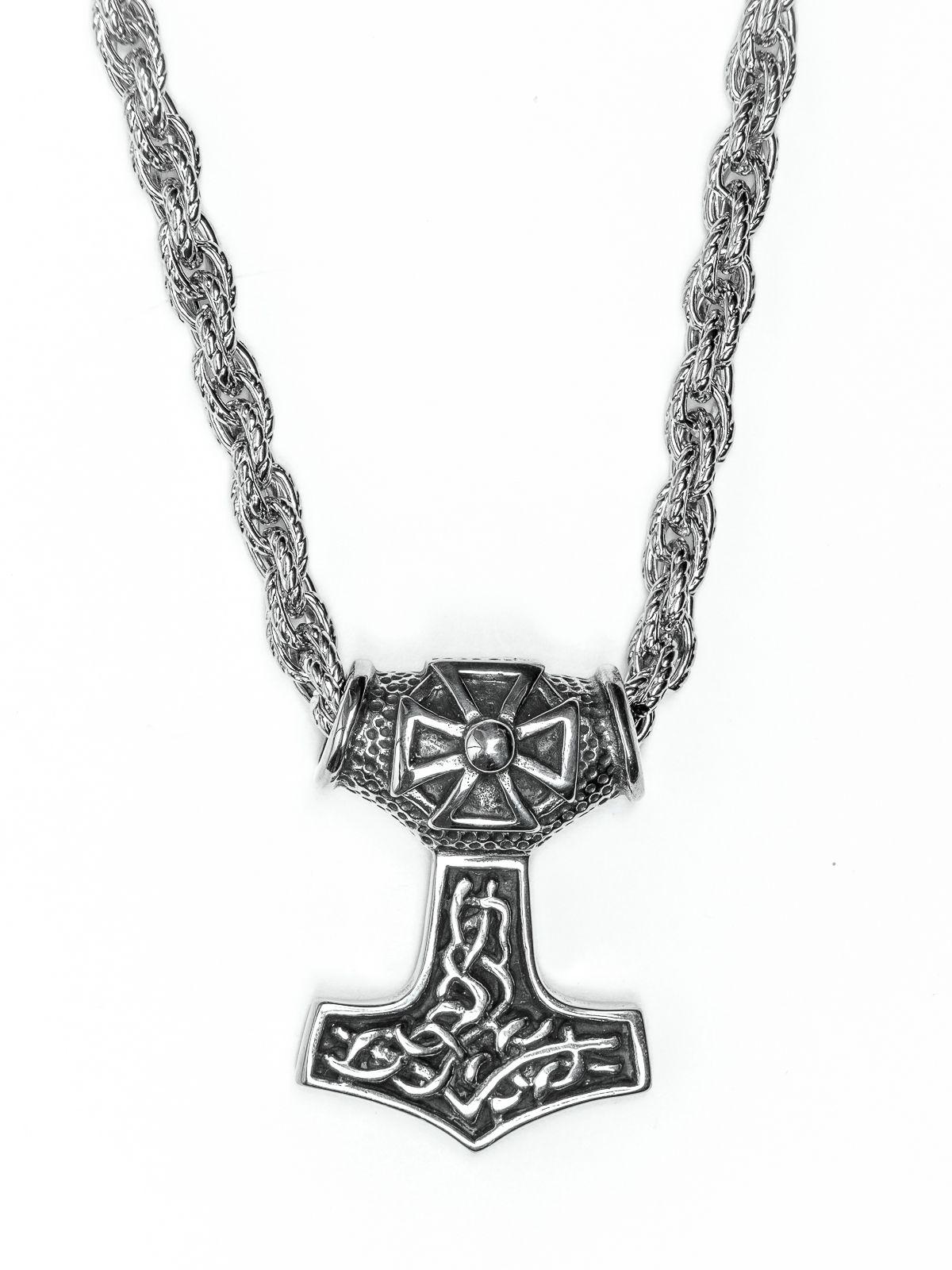 Řetěz na krk s přívěskem z chirurgické oceli - H3S0044