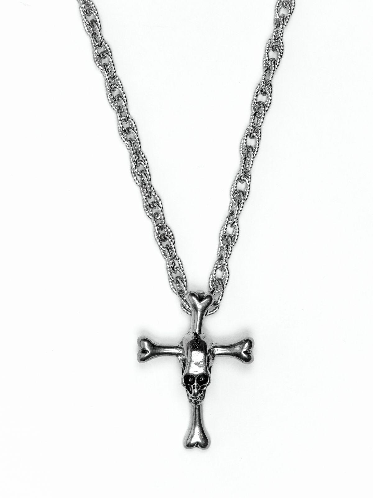 Řetěz na krk s přívěskem z chirurgické oceli - H3S0064-A