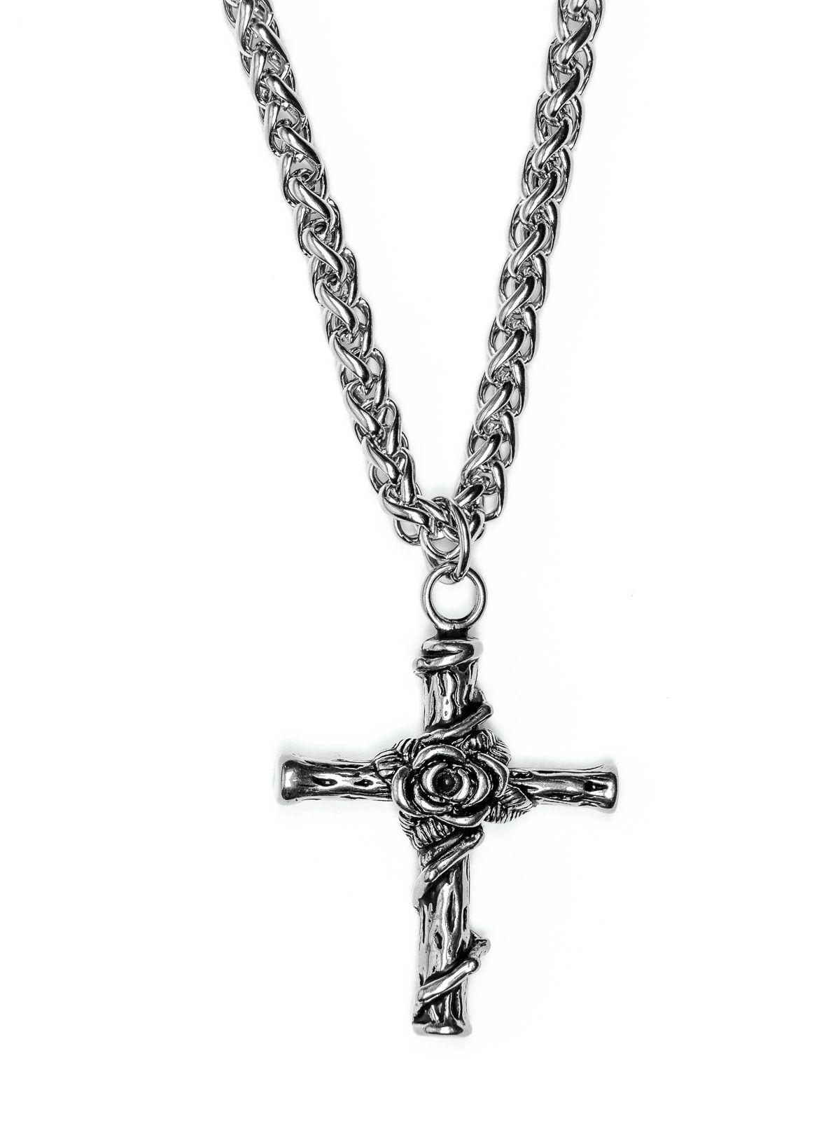 Řetěz na krk s přívěskem z chirurgické oceli - H3S0066-A