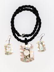 Sada perličkový náhrdelník a náušnice z perleti a resinu  ID1609102-030