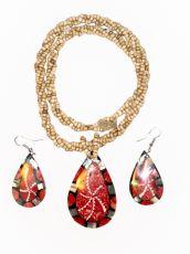 Sada perličkový náhrdelník a náušnice z perleti a resinu  ID1609102-031