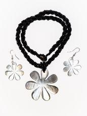 Sada perličkový náhrdelník a náušnice z perleti a resinu  ID1609102-032