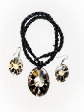 Sada perličkový náhrdelník a náušnice z perleti a resinu  ID1609102-023