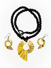 Sada perličkový náhrdelník a náušnice z perleti a resinu  ID1609102-027