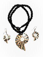 Sada perličkový náhrdelník a náušnice z perleti a resinu  ID1609102-020