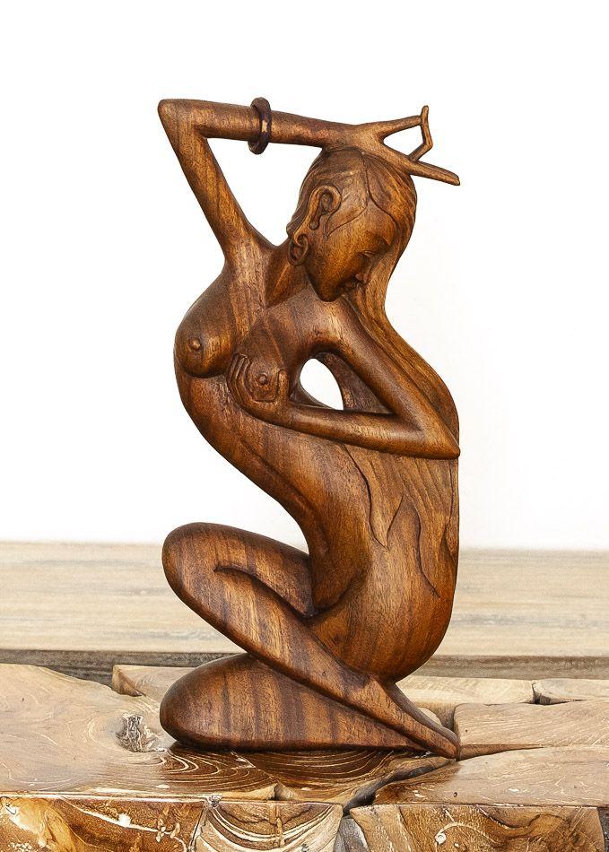 Socha abstrakt 40 cm z tvrdšího dřeva - ŽENA - ID1701633