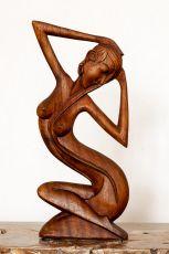 Socha abstrakt 60 cm z tvrdšího dřeva - ŽENA  ID1701626