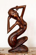 Socha abstrakt 50 cm z tvrdšího dřeva - ŽENA  ID1701625