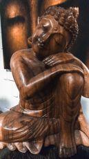 Socha Rozjímající Buddha 32 cm dřevo suar Indonésie