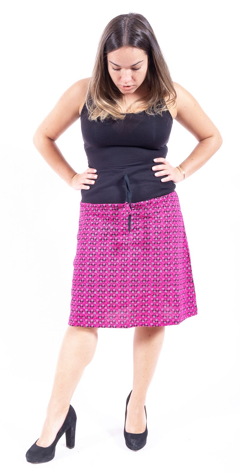 Dámská letní krátká sukně CALIENTE, bavlna Nepál - NT0101-11-007 KENAVI