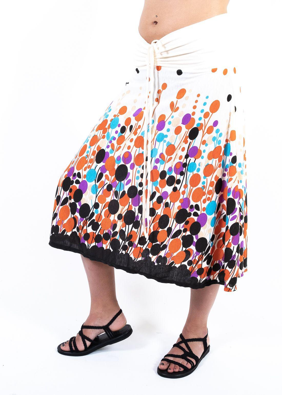 Dámská letní sukně / šaty s potiskem - TT0024-00-053