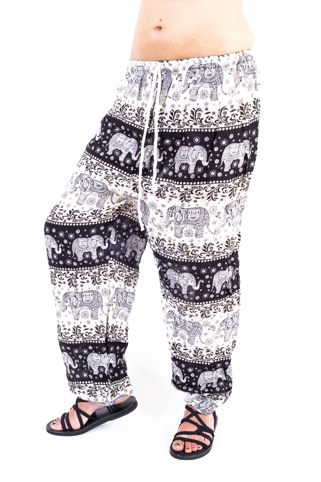 Dámské letní kalhoty PALM viskóza Thajsko - TT0043-0234