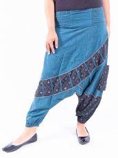 Kalhoty KABUL, ruční práce Nepál  NT0096-04-004 | Velikost S/M, Velikost M/L