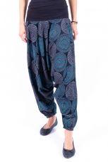 Kalhoty turecké ALIBABA, ruční potisk Nepál  - NT0096-11-005 | Velikost S/M, Velikost L/XL