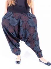 Kalhoty turecké ALIBABA, ruční potisk  Nepál  NT0096-11-006