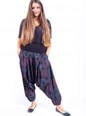 Kalhoty turecké ALIBABA, ruční potisk  Nepál  NT0096-11-004