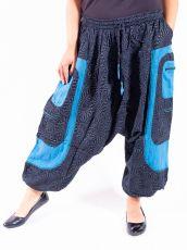 UNISEX turecké kalhoty RAMA PRINT z Nepálu z lehčího materiálu - NT0053-28B-014 KENAVI