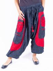 UNISEX turecké kalhoty RAMA PRINT z Nepálu  NT0053-28B-013