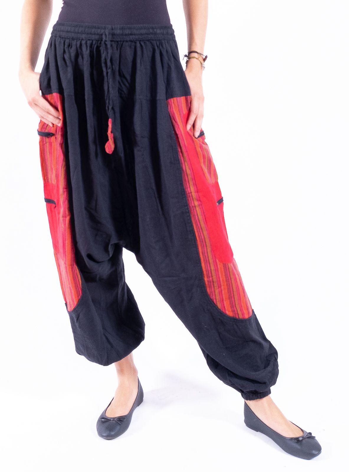UNISEX turecké kalhoty RAMA z Nepálu z lehčího materiálu - NT0053-28B-008 KENAVI