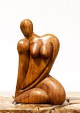 Socha ŽENA abstrakt, dekorace 30 cm, dřevo Indonésie  ID1701614B