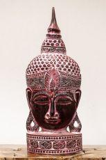 Busta Buddha - bytová dekorace, dřevořezba Indonésie ID1702001B
