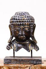 Busta Buddha - bytová dekorace, dřevořezba Indonésie ID1701003-03