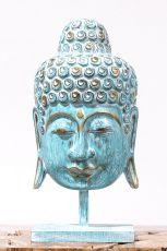 Busta Buddha - bytová dekorace, dřevořezba Indonésie ID1702020