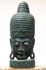 Busta Buddha - bytová dekorace, dřevořezba Indonésie ID1702501