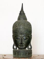 Busta Buddha - bytová dekorace, dřevořezba Indonésie ID1702002