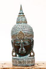Busta Buddha - bytová dekorace, dřevořezba Indonésie ID1702003