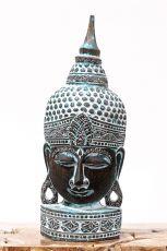 Busta Buddha - bytová dekorace, dřevořezba Indonésie ID1702004